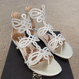 84a13fe78b7222 Women s Badgley Mischka Flat Sandals on Poshmark
